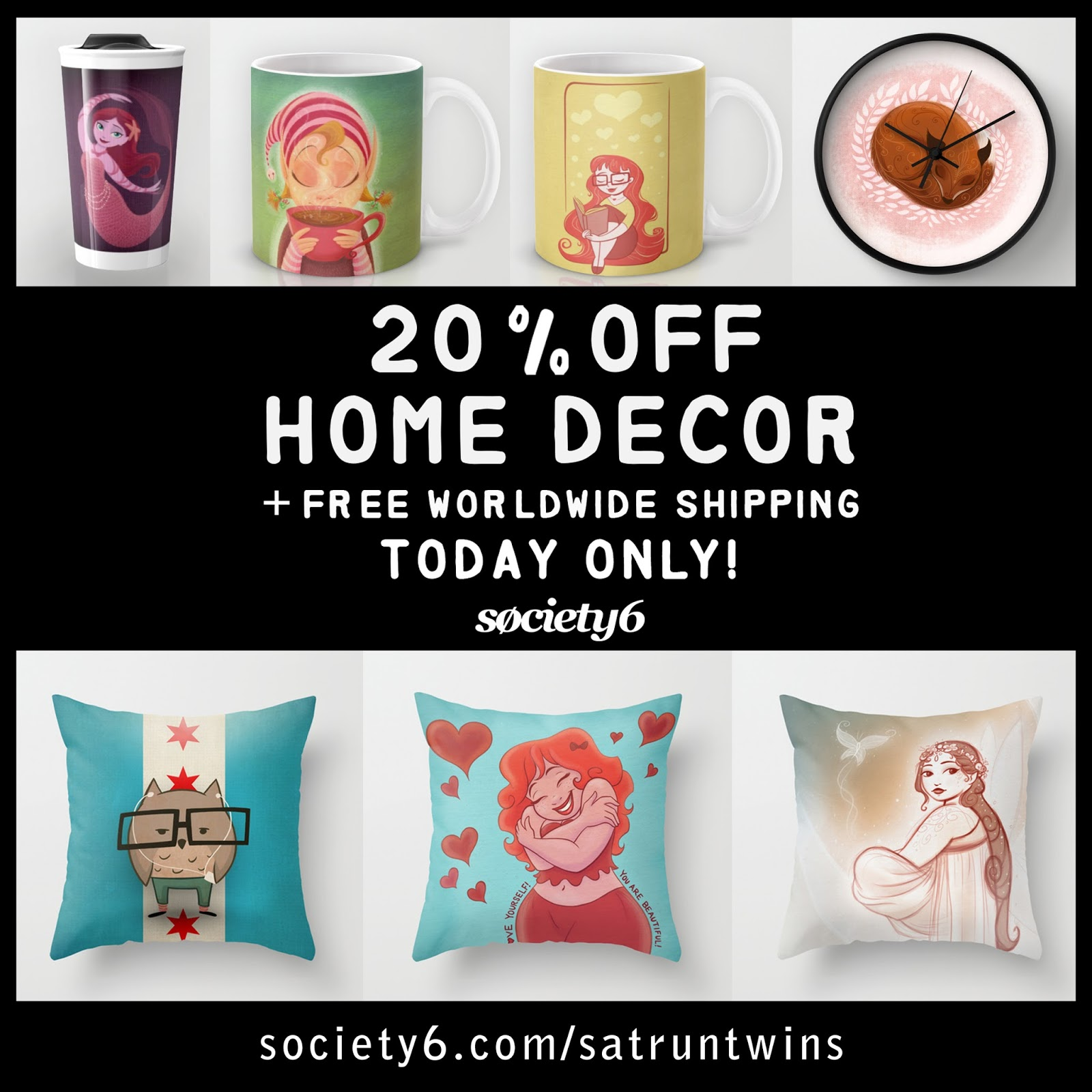 Sarah 39 s sketchbook society6 sale on home decor Home decor for sale
