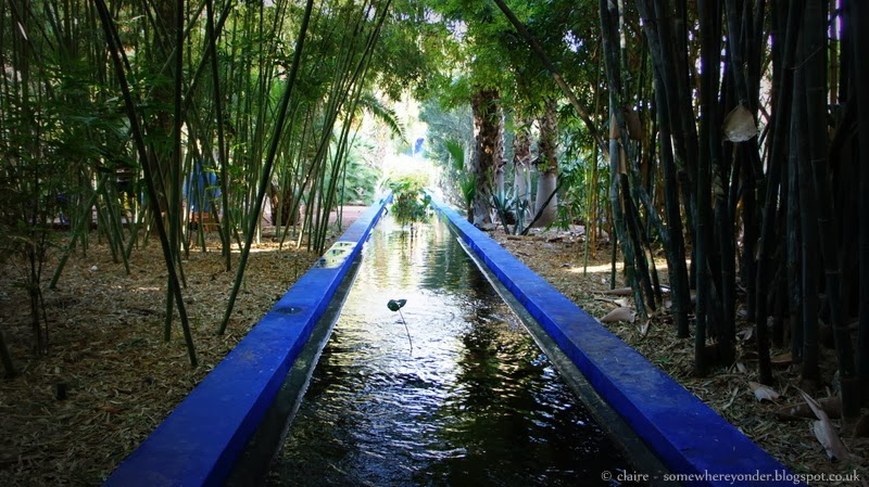 Water feature in Jardin Majorelle Marrakech