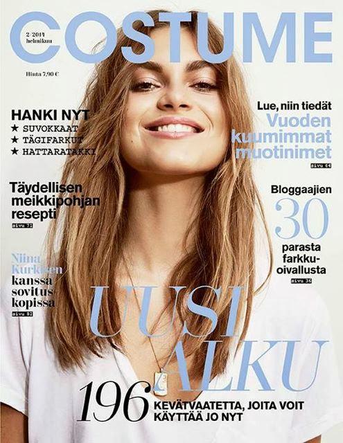 Magazine Cover : Veneda Budny Magazine Photoshoot Pics on Costume Magazine Finland February 2014 Issue