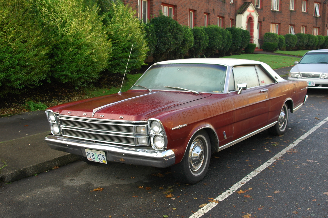 old parked cars 1966 ford galaxie 500 xl. Cars Review. Best American Auto & Cars Review