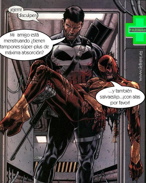 menstruación, masculina, cómic, superhéroe