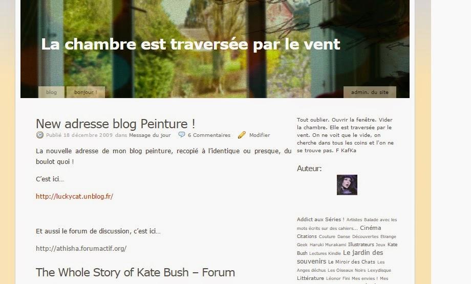 Mon blog précédent sur Unblog