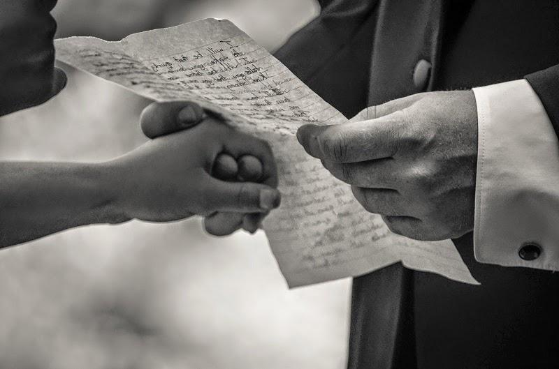 Сватбен Обет четен от младоженеца