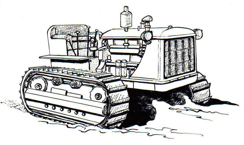 Tractor oruga de la construcción
