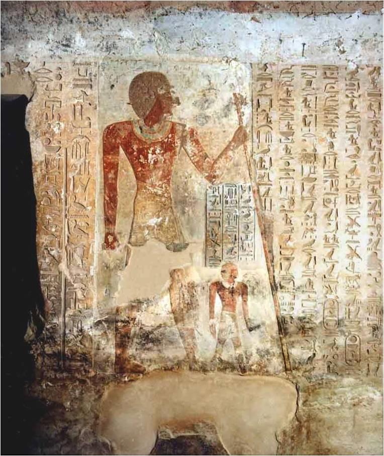 مشهد من مقبرة احمس ابن ابانا بالكاب يصور بطولاته