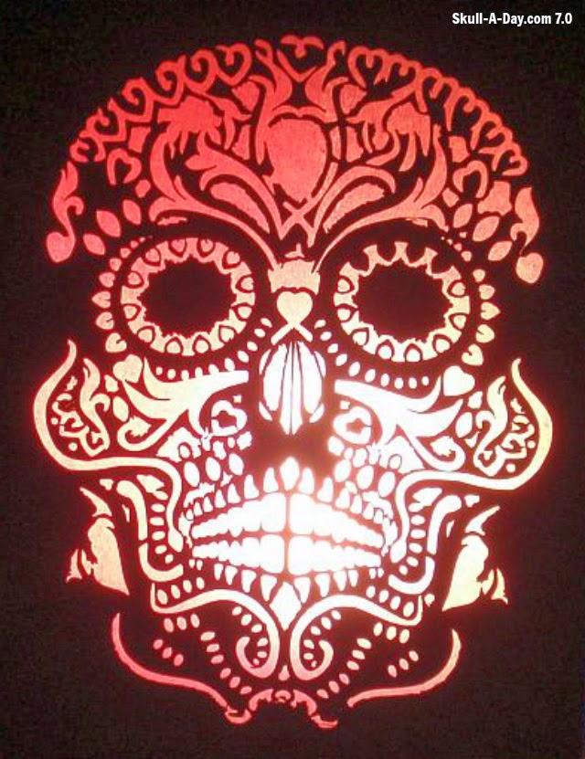 Sugar skull lamp shade aloadofball Image collections