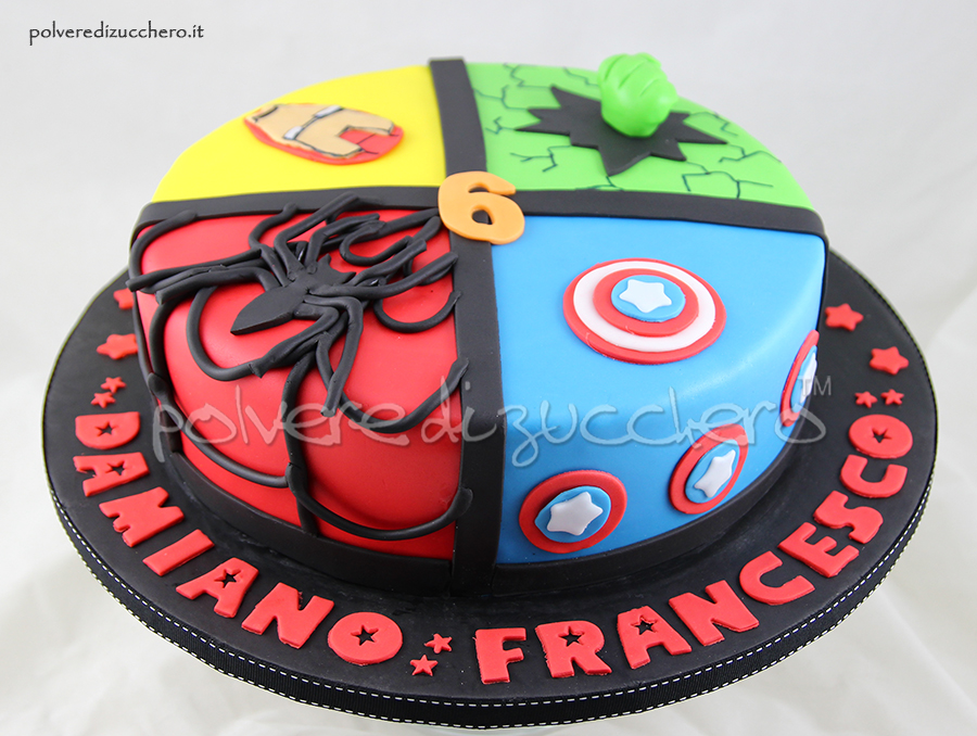 Captain America Cake Design