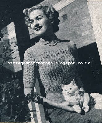 Free Pattern 1940's Knitting - Rondo Sweater Jumper