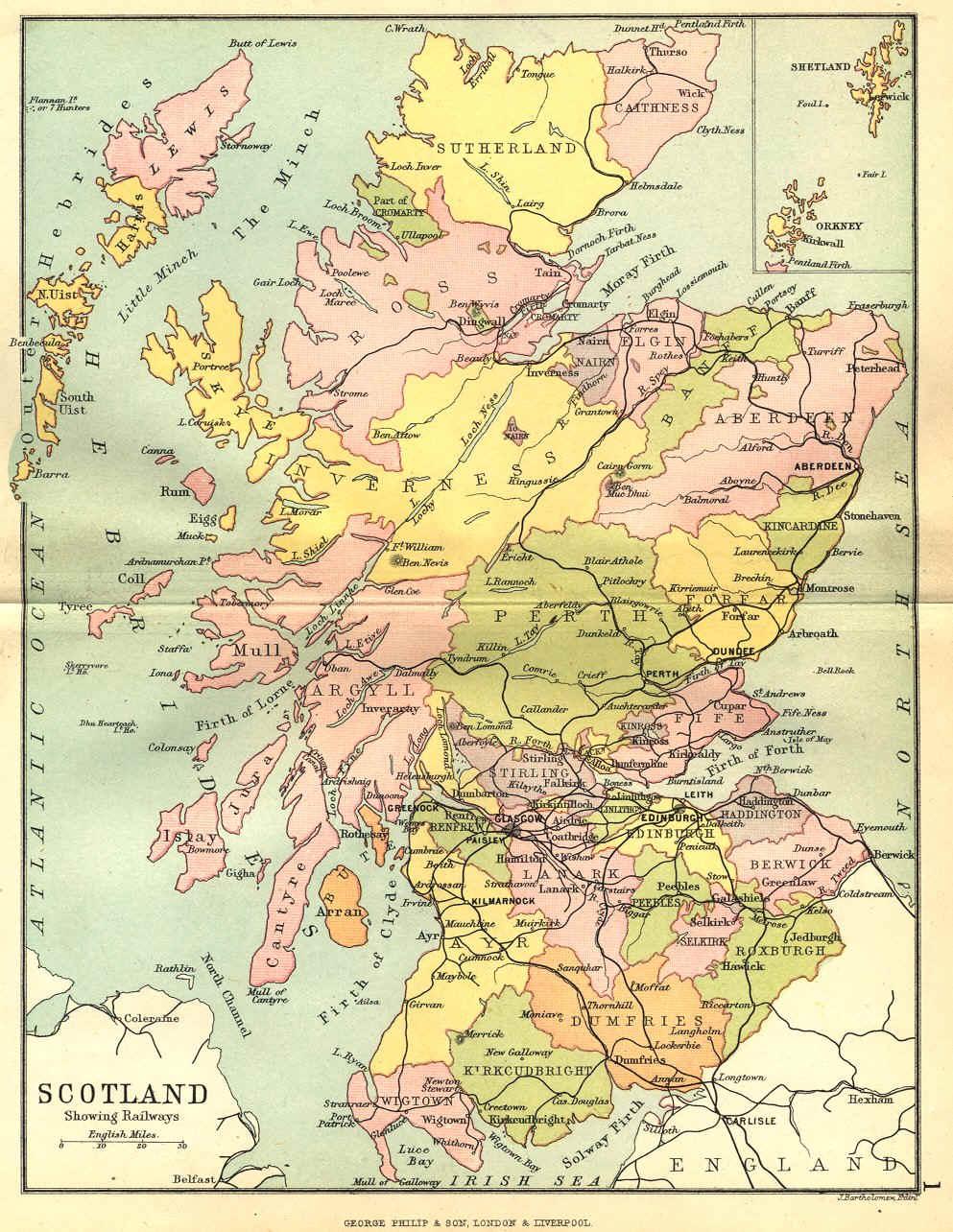 1890 map of scotland