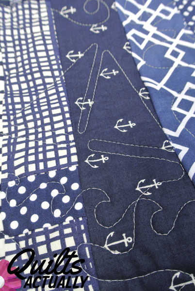 Nautical longarm quilting