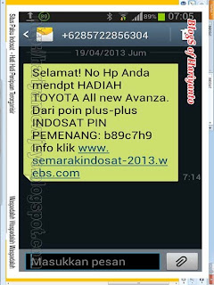 Situs Palsu Indosat Untuk Penipuan