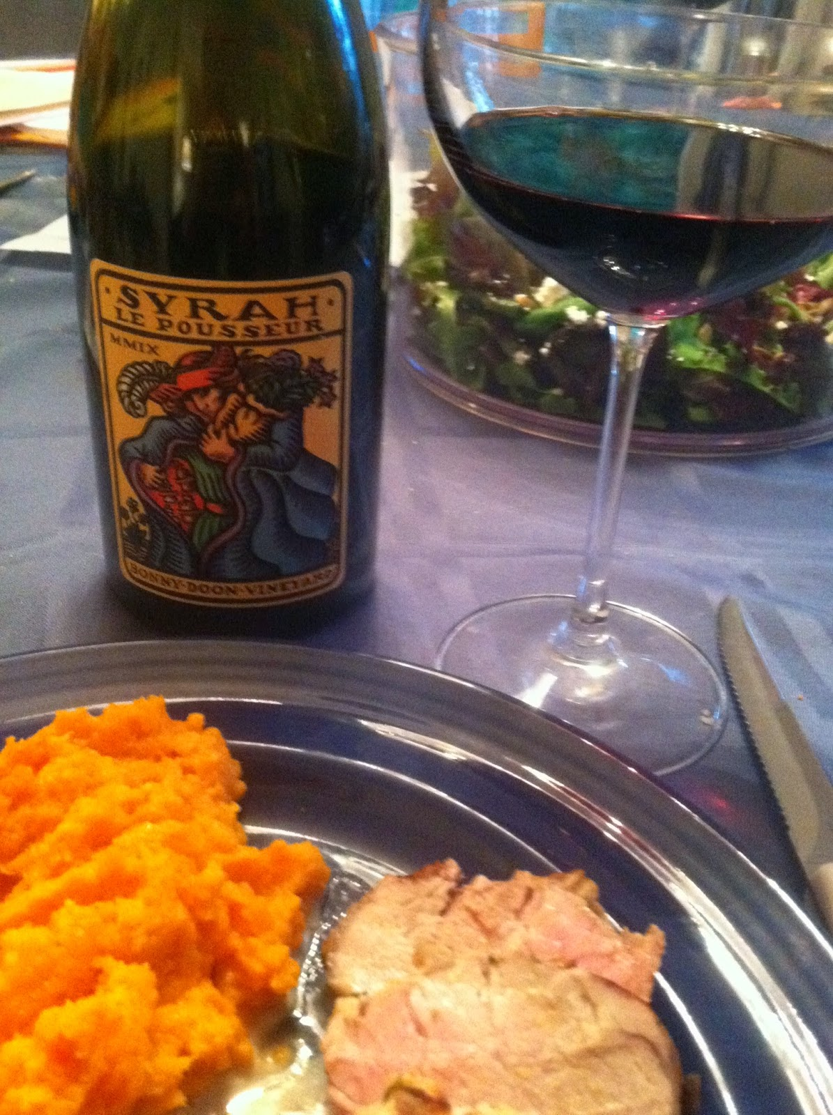 Bonny Doon Syrah paired with Grilled Pork Tenderloin for #winePW. Cooking Chat recipe