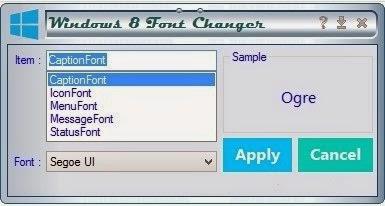 Cara Mengganti Font pada Windows 8