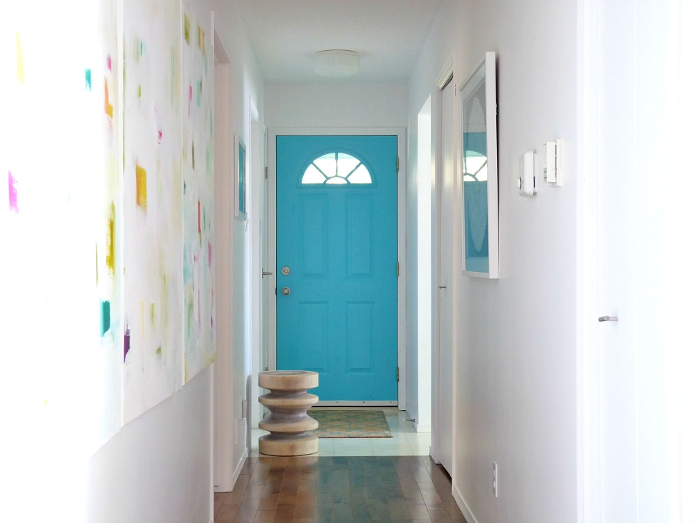 Paint a boring front door aqua
