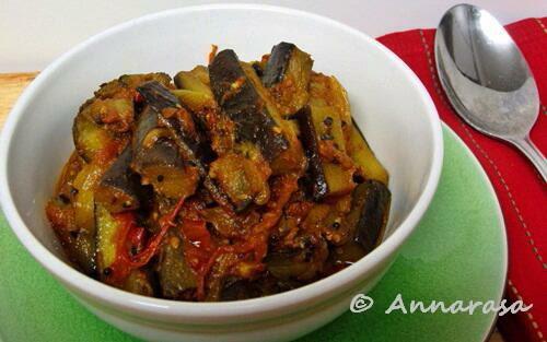... : Achari Baigan / Eggplant / Brinjal | Aubergine in Pickling Spices