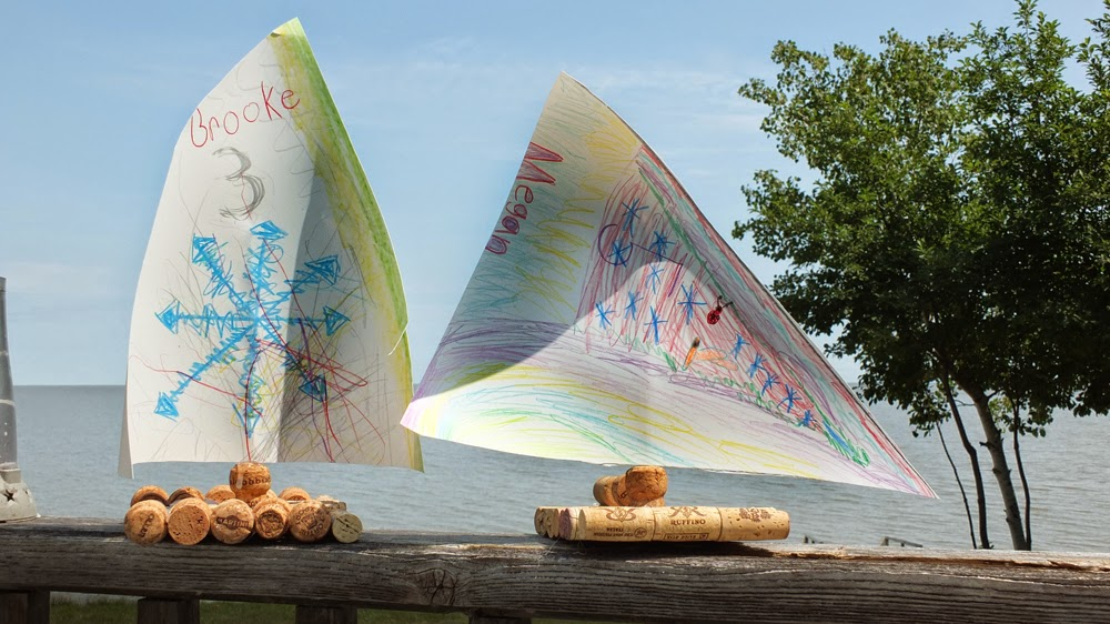 DIY Rock Paper and Cork Sail Boats that FLOAT