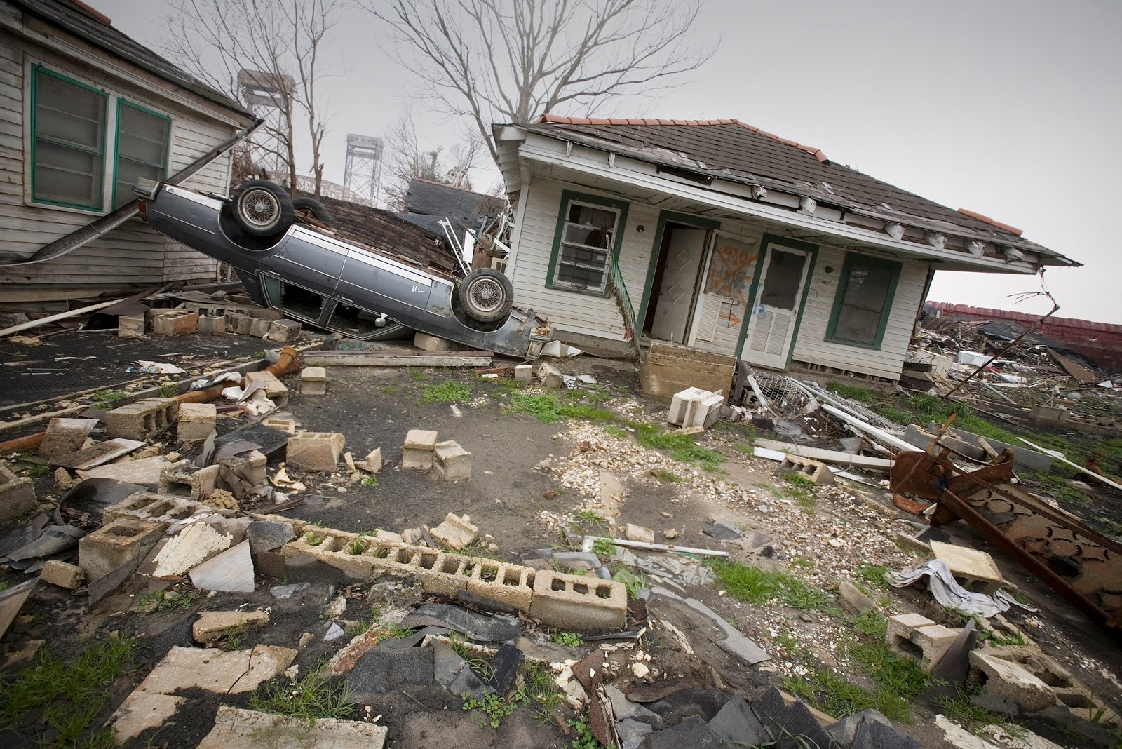 After the Flood: Lower Ninth Ward Near The Levee