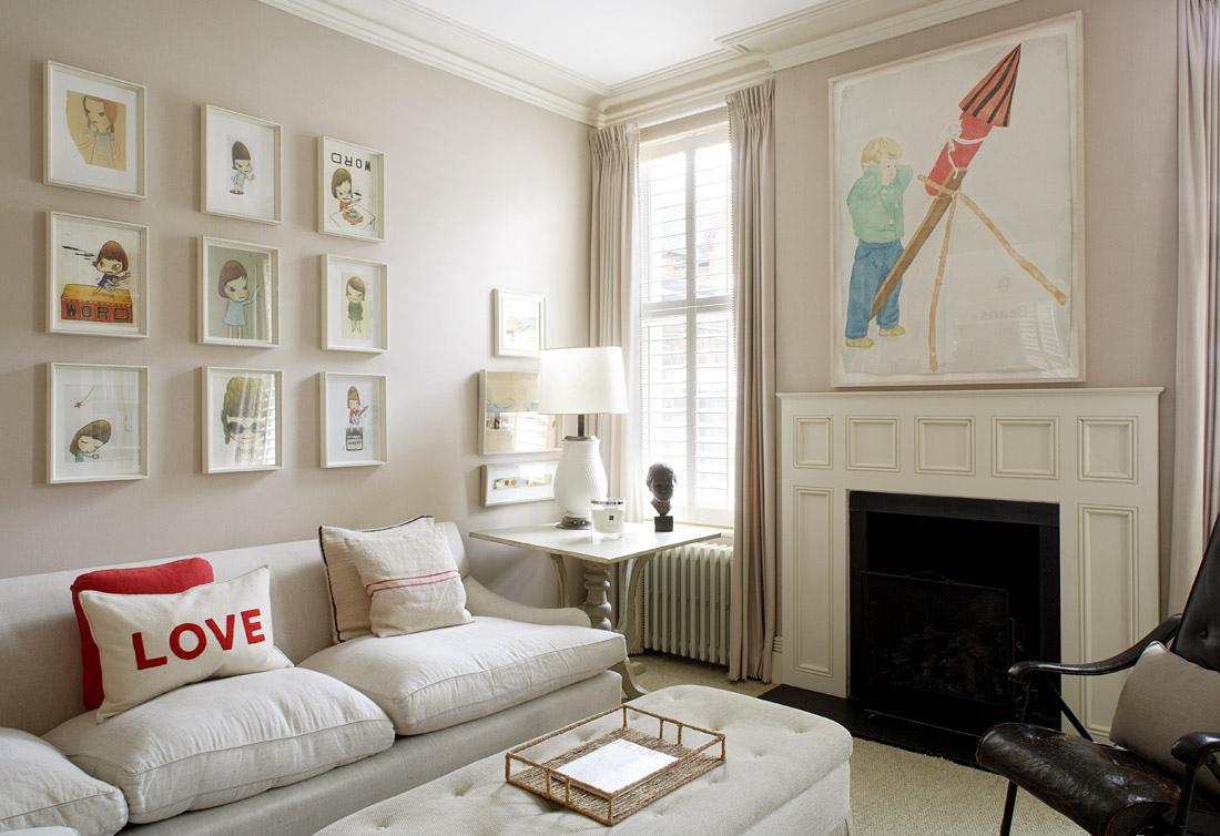 Un faro de ideas casa en londres - Contemporary artwork for living room ...