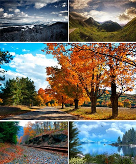 Пейзажные фото обои