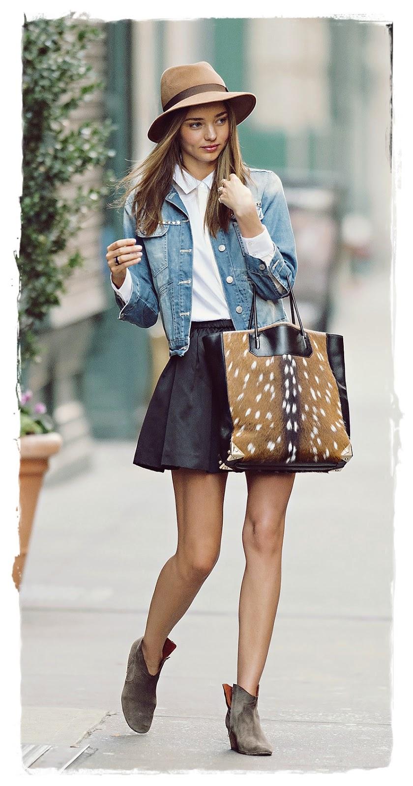 Miranda kerr street style snapshot add a denim jacket Fashion style mag images