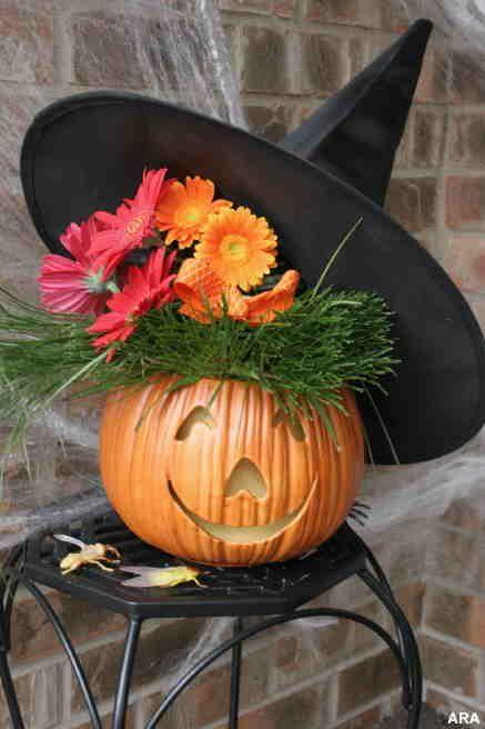 Осенняя композиция из тыквы своими руками фото