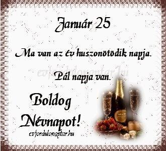 Január 25, Pál névnap