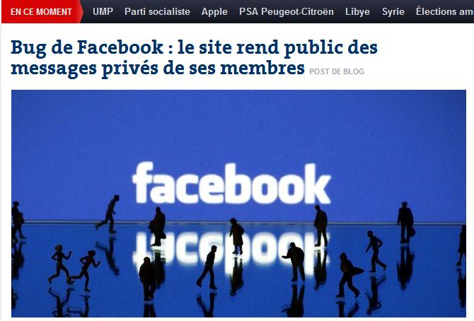 messaggi privati facebook francia