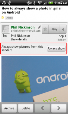 Show Images In Gmail