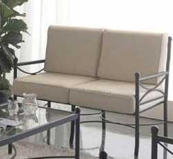 Muebles de forja sof de forja nilo para interior y exterior for Sofa exterior hierro