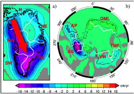 Lost Ice Mass from Grace satellite data in Vanishing ICe All Natural Jim Steele