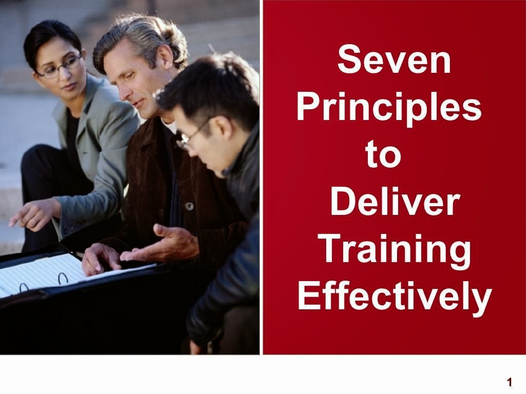 7 Principles to Training Delivery ppt