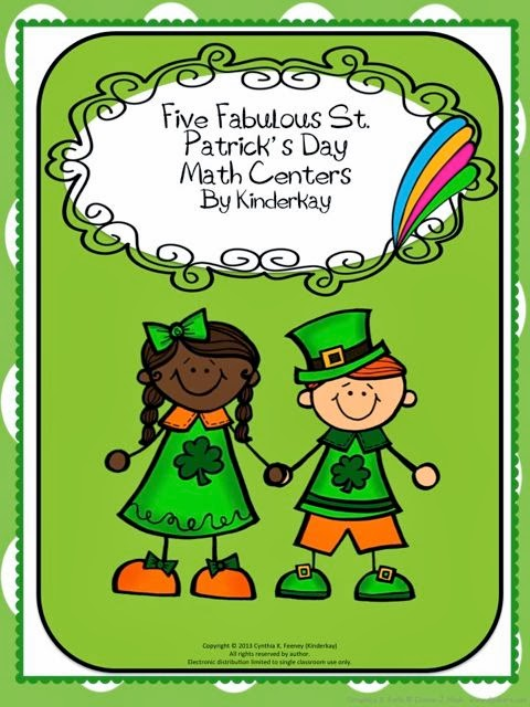 http://www.teacherspayteachers.com/Product/Five-Fabulous-St-Patricks-Day-Math-Centers-583322