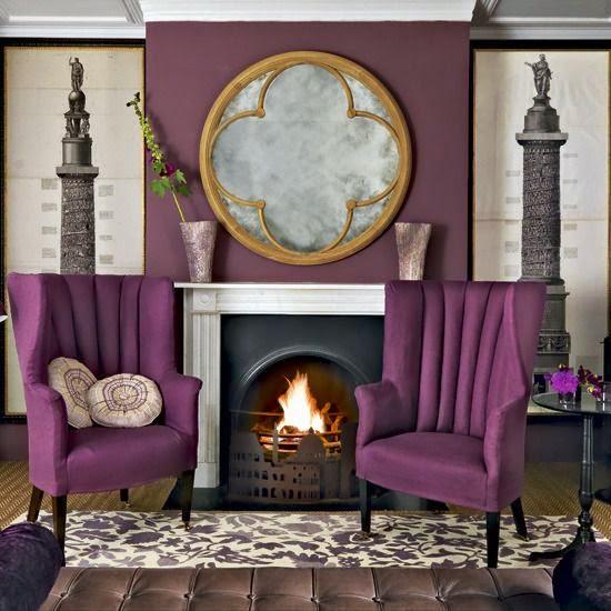 Eye for design decorating with aubergine eggplant for Aubergine bathroom ideas