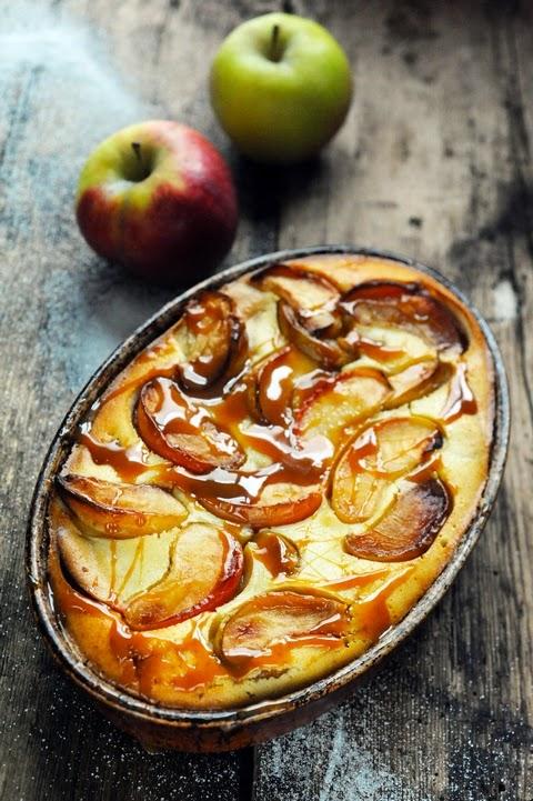 Décidément fait un temps à manger des pommes ! Petit flan très pommes et pom pom pom…