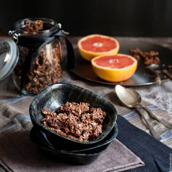 The Foodie Corner | Chocolate Granola W/ Tahini & Honey