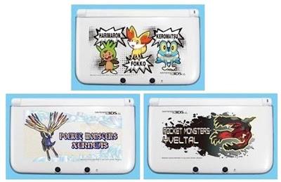 Chespin Fennekin Froakie Xerneas Yveltal 3DS LL Hard Cover Jupiter