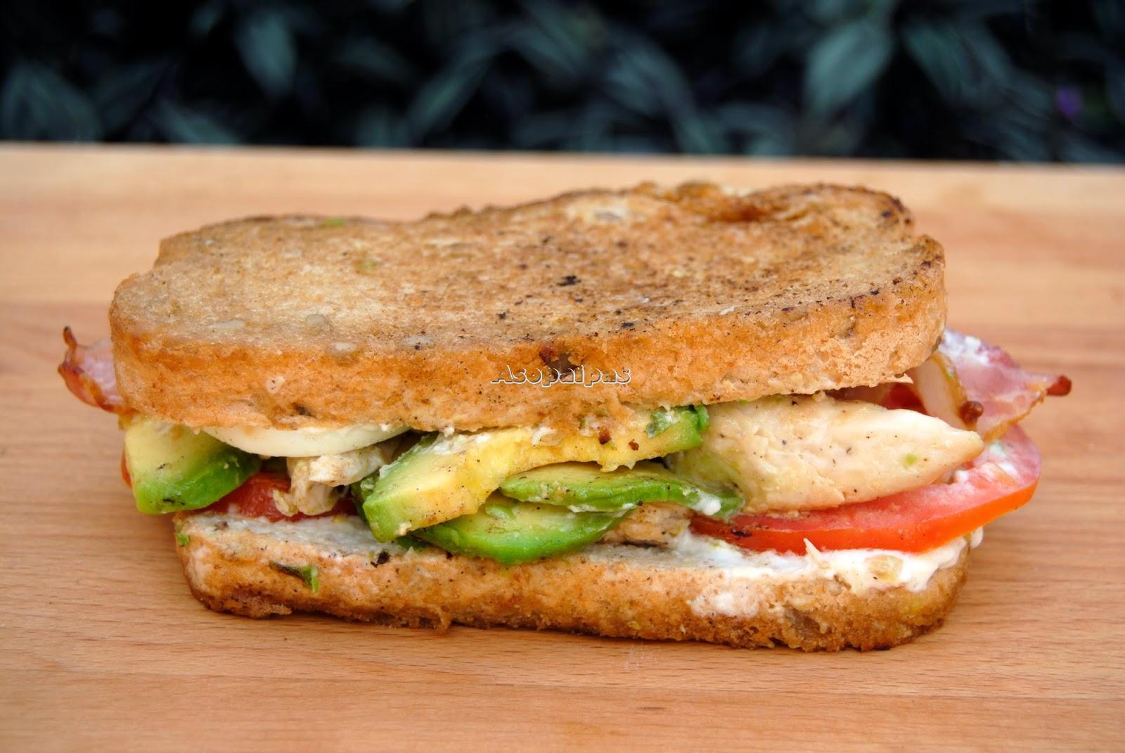 Sándwich Ensalada Cobb (Cobb Salad Sandwich) | Asopaipas. Recetas de ...