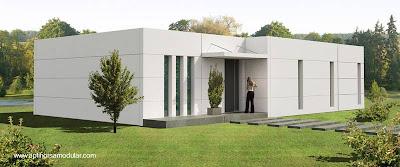 Modelo de casa prefabricada modular en España