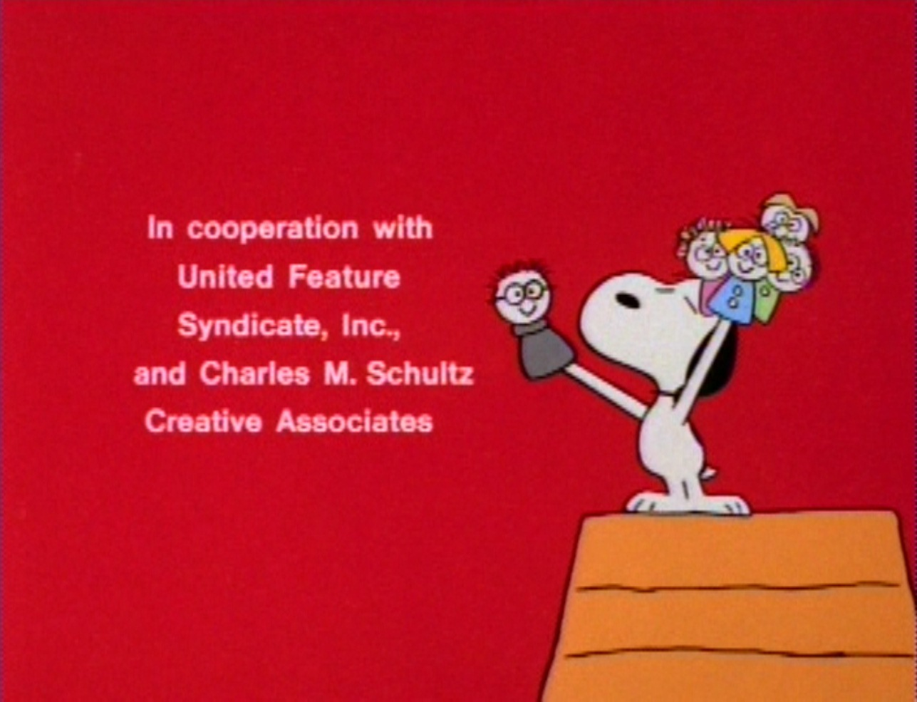 During The Credits, The People Who Worked On The Special Are Depicted As  Puppets, Hereu0027s Charles Schulz.