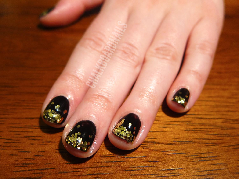 Glam Glitter Gradient Guest Nails Chalkboard Nails Nail Art Blog