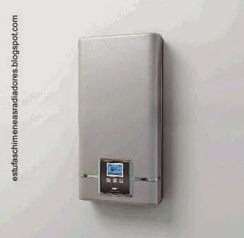 Calefón eléctrico con panel de control digital para residencias