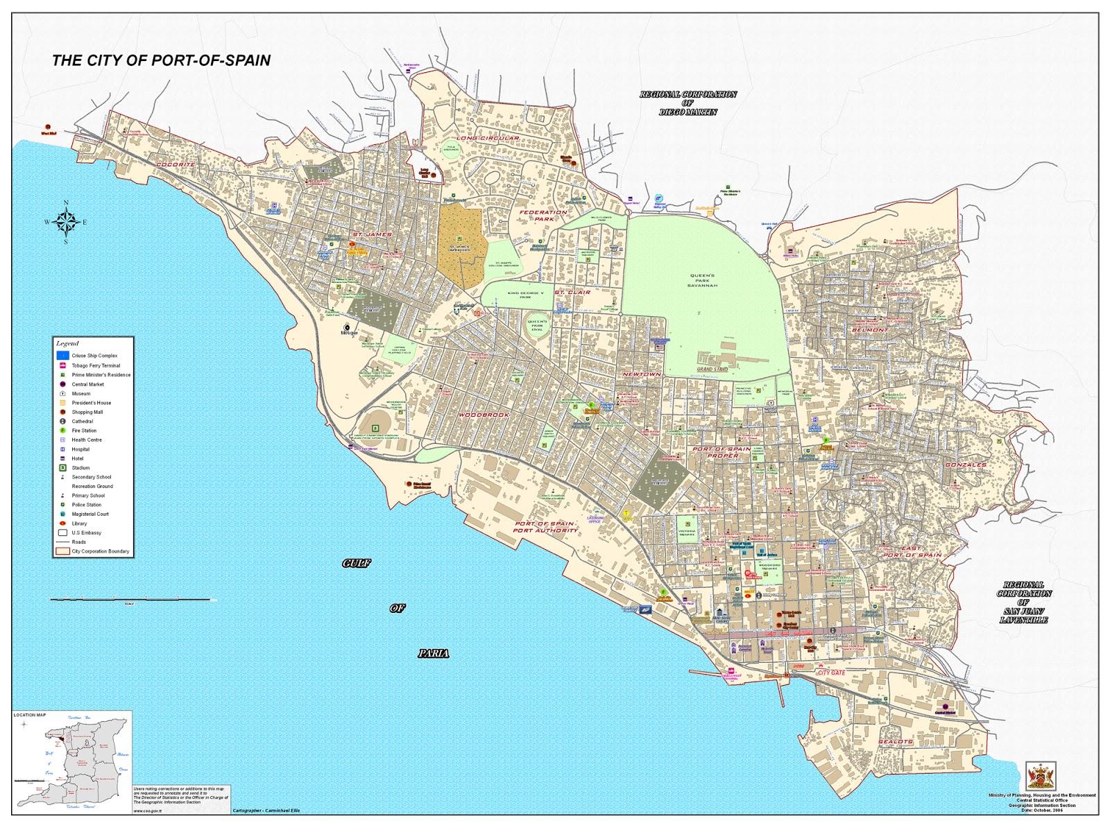 the city of port of spain trinidad trinidad and tobago