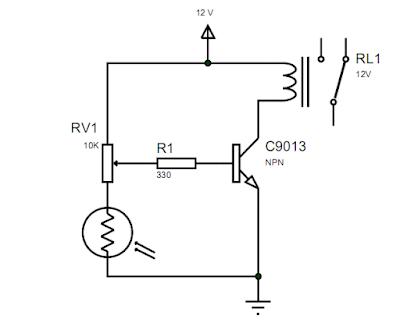 Skema Rangkaian Sensor Cahaya LDR untuk Lampu Otomatis