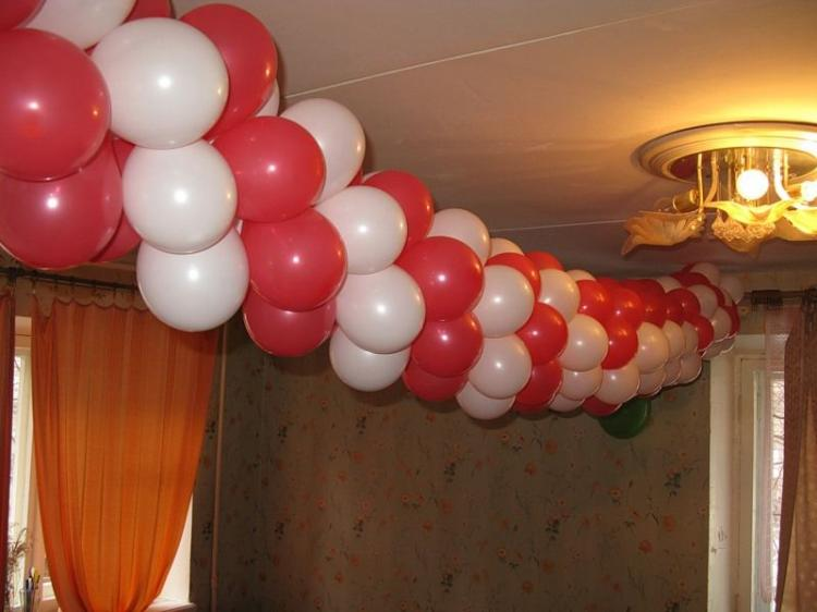 How to make a garland of balloons
