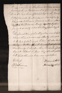 Marriage Bond - Sarah Reeves to William Holton