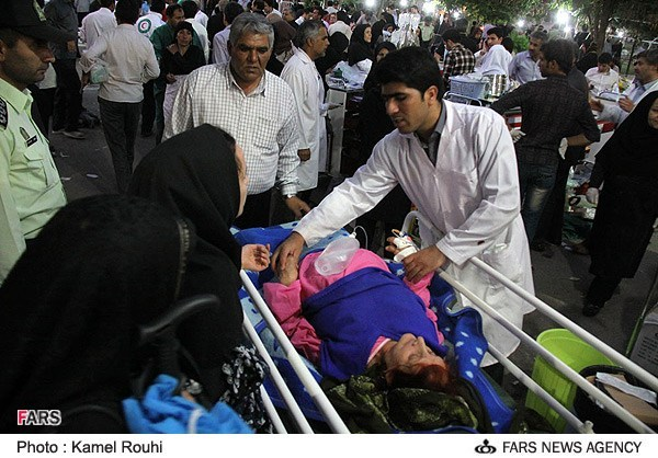 Iran earthquake victims