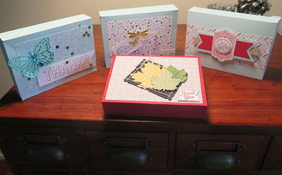 Thank You - Boxes of Cards  zena kennedy independent stampin up demonstrator