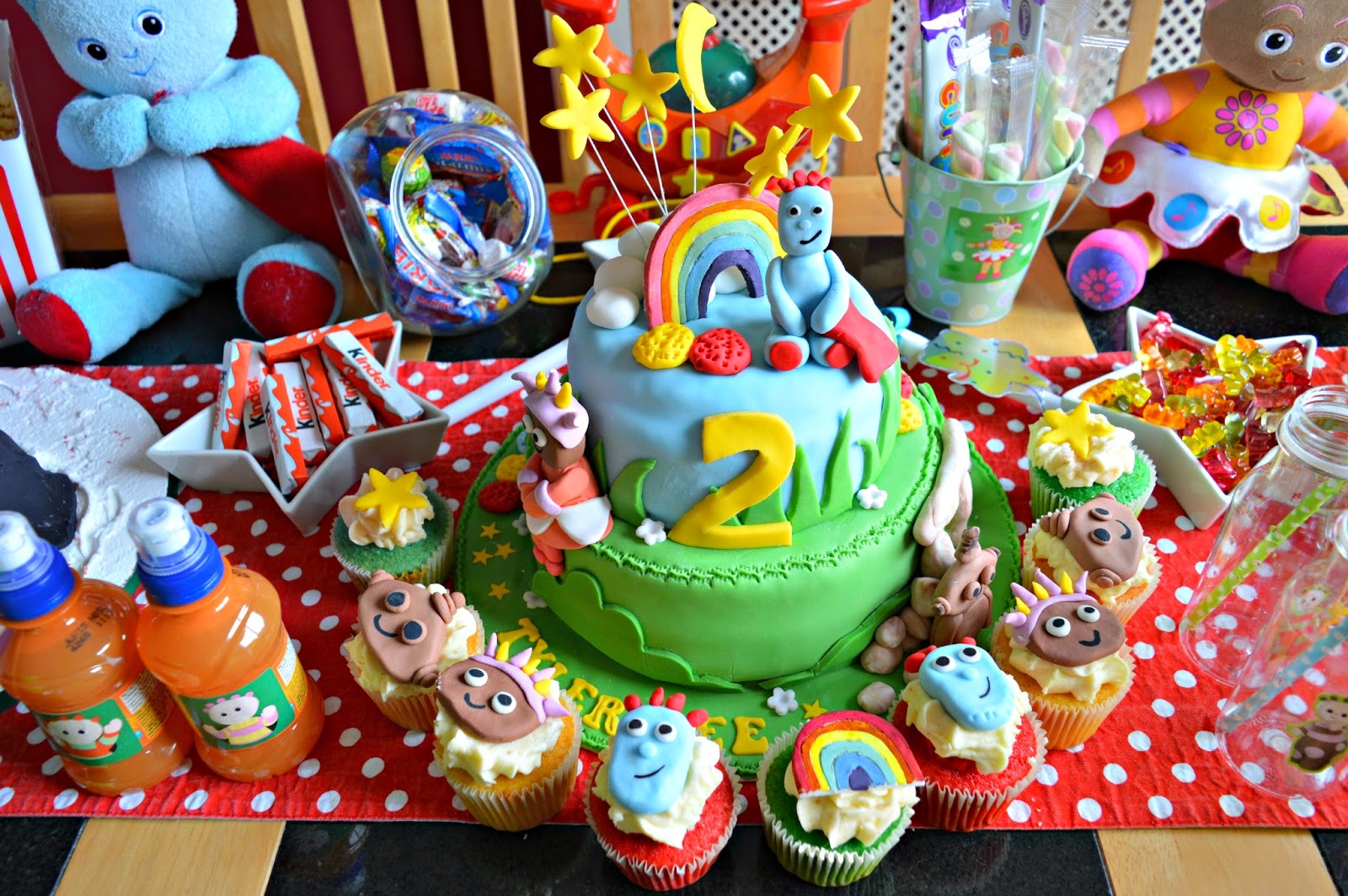 tyler lee s nd birthday in the night garden themed tea party i wanted everything to be as colourful as it could possibly be i think a child s birthday party should always be cheerful so i picked sweets and treats