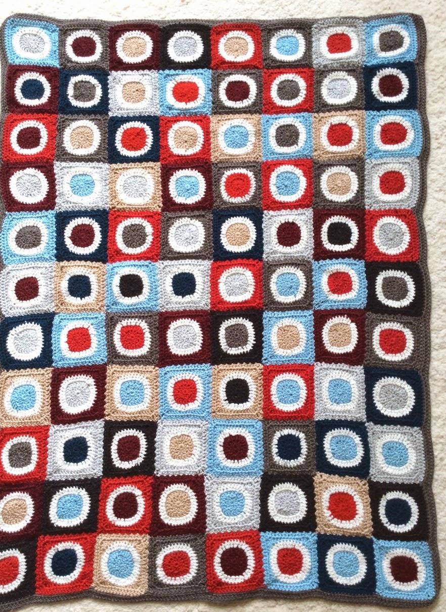 Häkeldecke Crochet Baby Anton gesamt Circle-in-a-Square