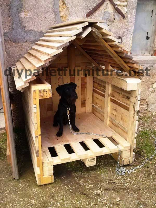 la casita para perro con palets de manou. Black Bedroom Furniture Sets. Home Design Ideas